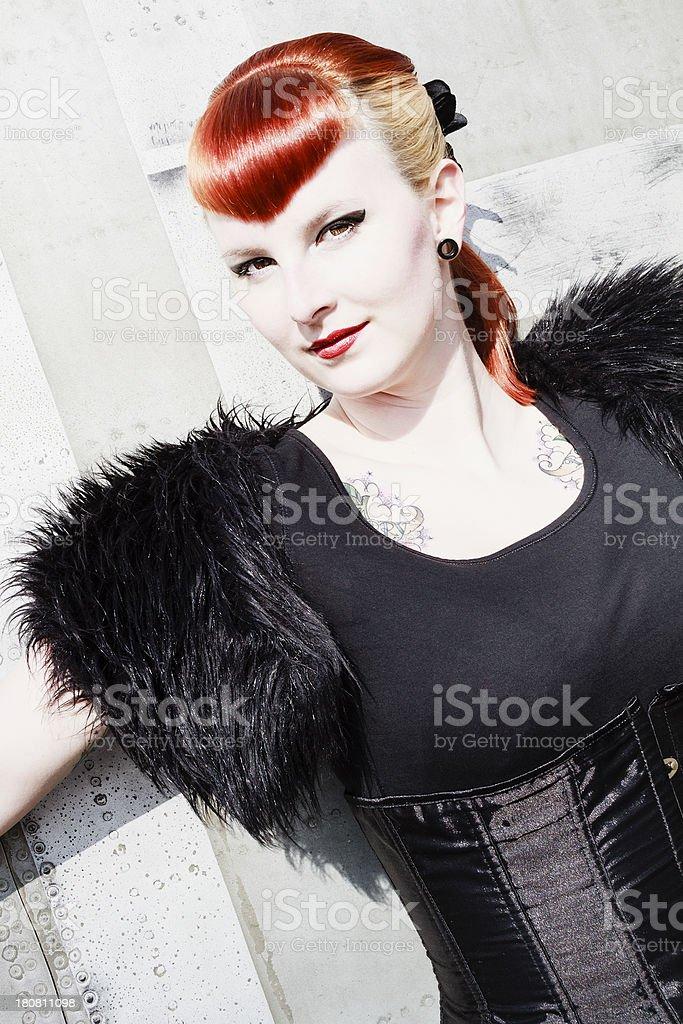 Rockabilly style stock photo