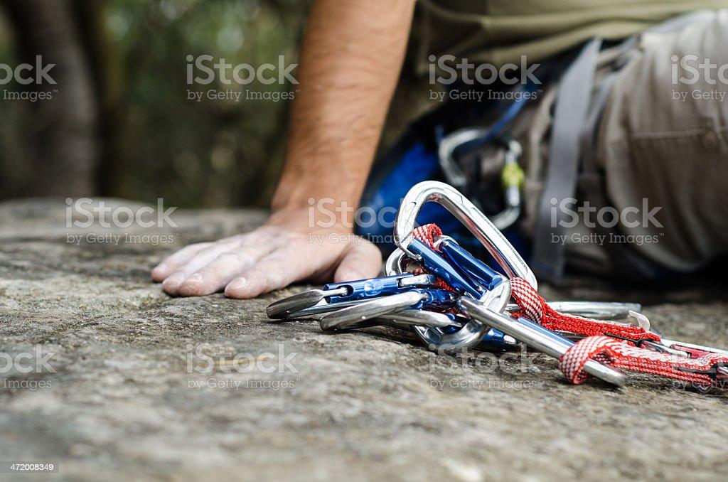 Rockclimbing Break stock photo