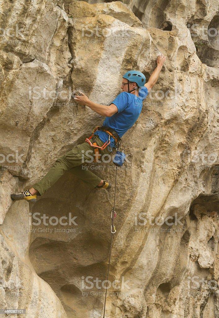 Rockclimbing in China royalty-free stock photo