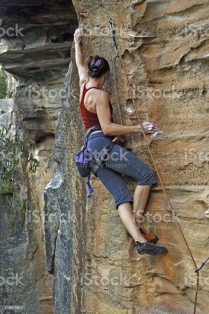 Rockclimbing Woman stock photo