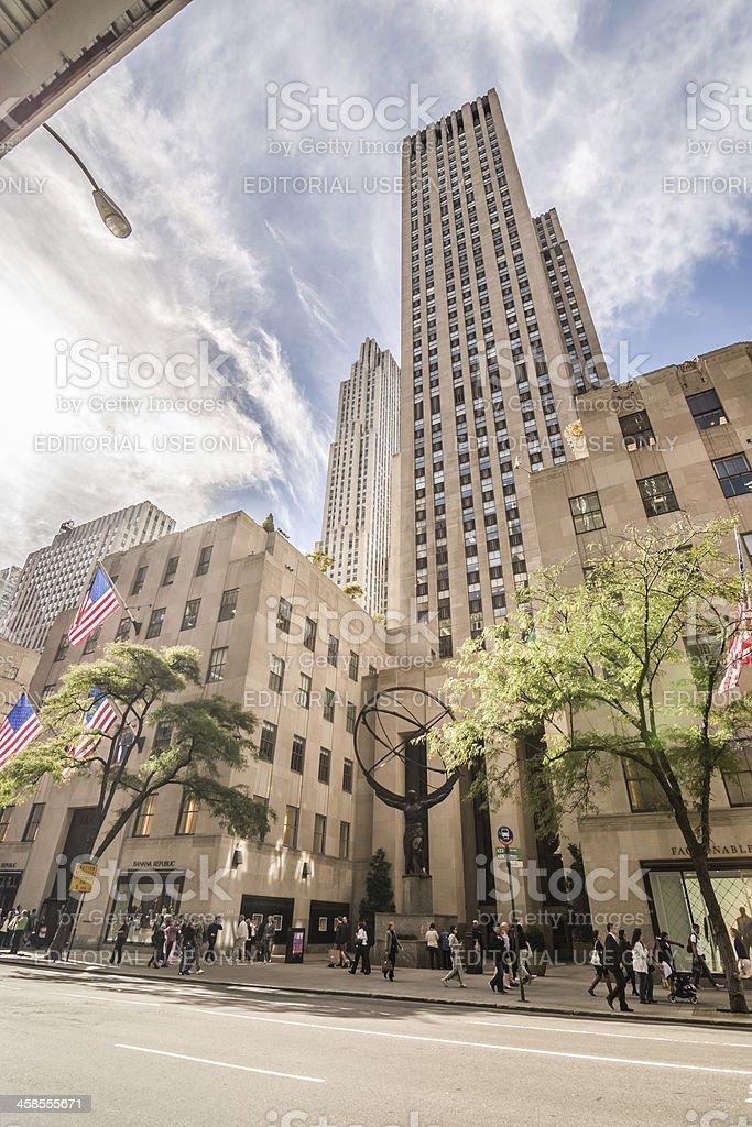 Rockefeller Center in New York City stock photo