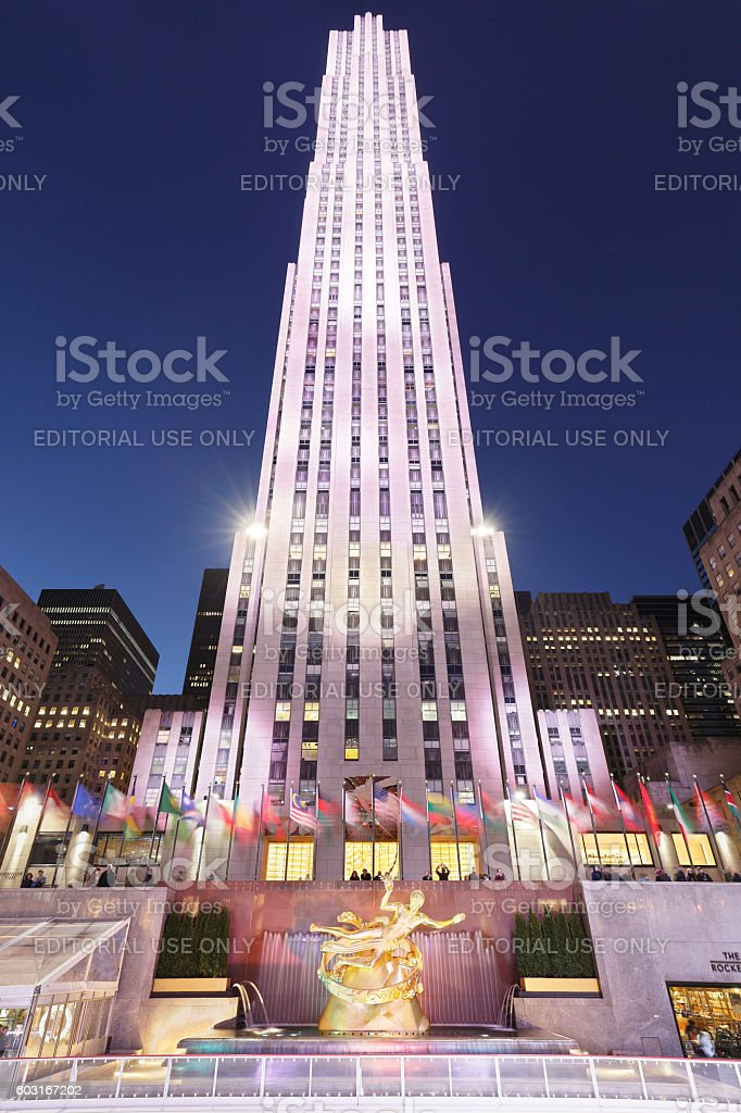 Rockefeller Center - New York stock photo