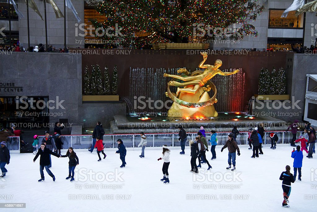 Rockefeller ice-rink NYC # 4 XXL stock photo