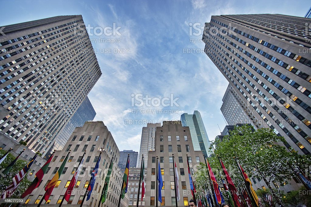 Rockefeller Plaza, New York, USA stock photo