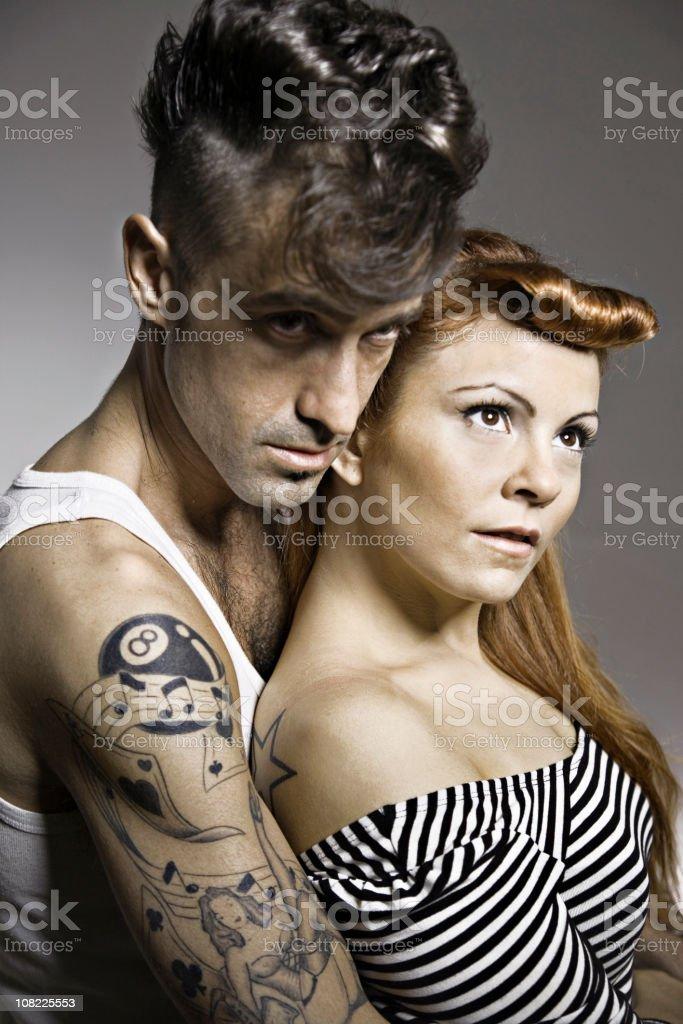 Rocker couple stock photo