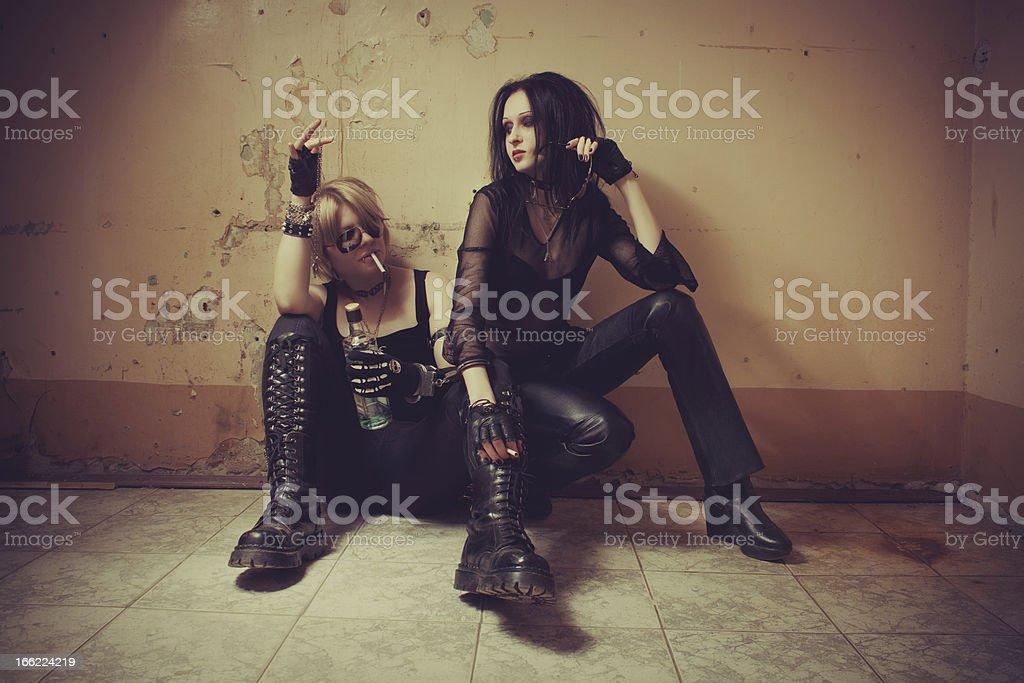 Rocker girls royalty-free stock photo