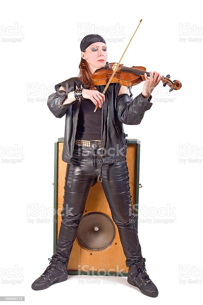 rocker woman royalty-free stock photo