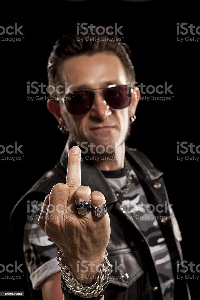 Rocker/Biker studio portraits royalty-free stock photo