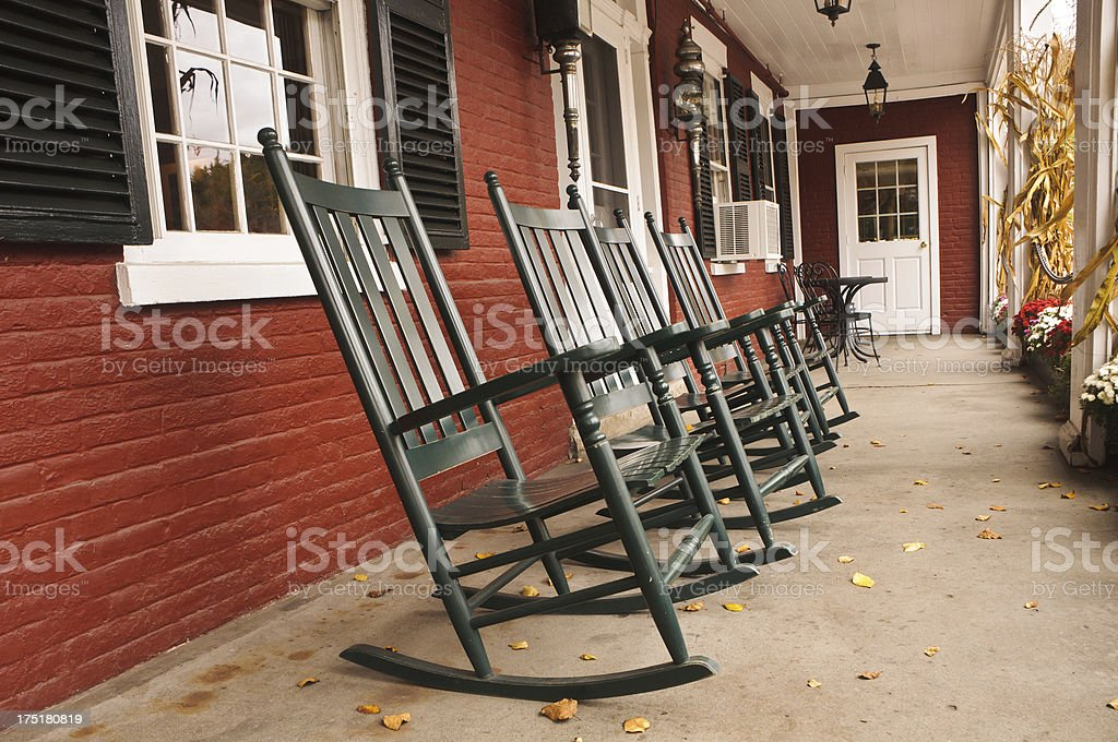 Rockers on the Porch royalty-free stock photo