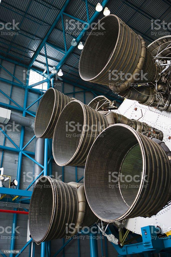Rocket at Cape Canaveral stock photo