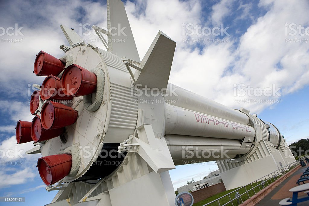 Rocket at Cape Canaveral stock photo
