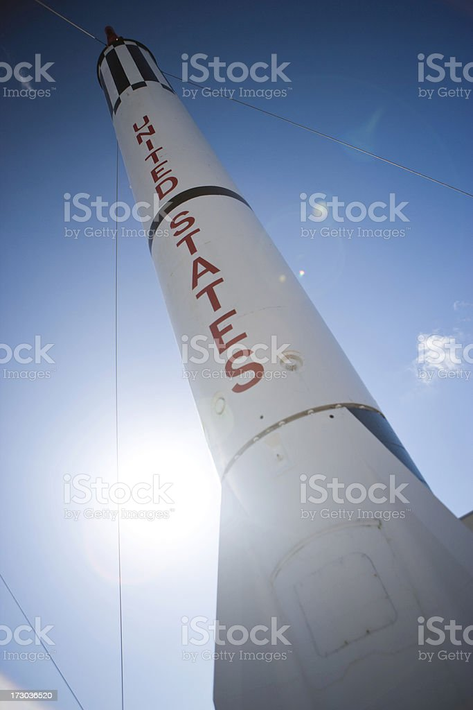 Rocket at Cape Canaveral royalty-free stock photo