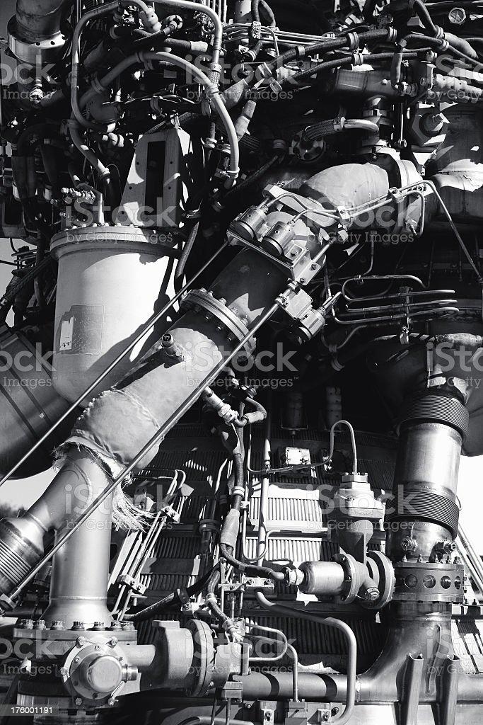 Rocket Booster Detail stock photo