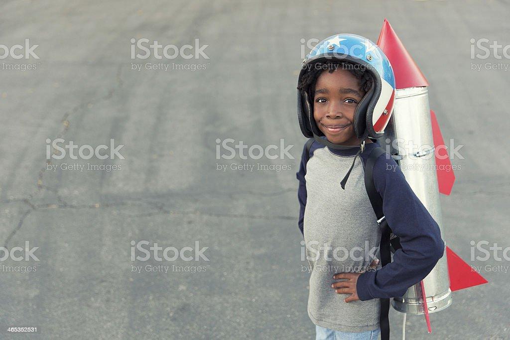 Rocket Boy royalty-free stock photo
