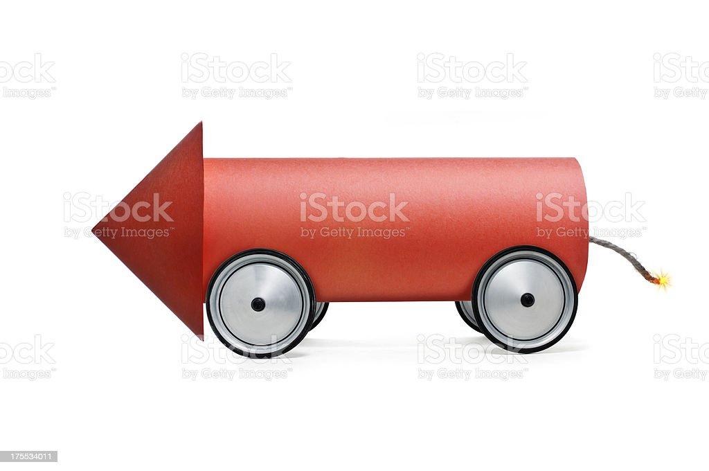 Rocket car stock photo