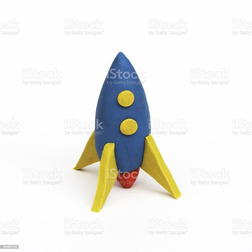 rocket, clay modeling stock photo