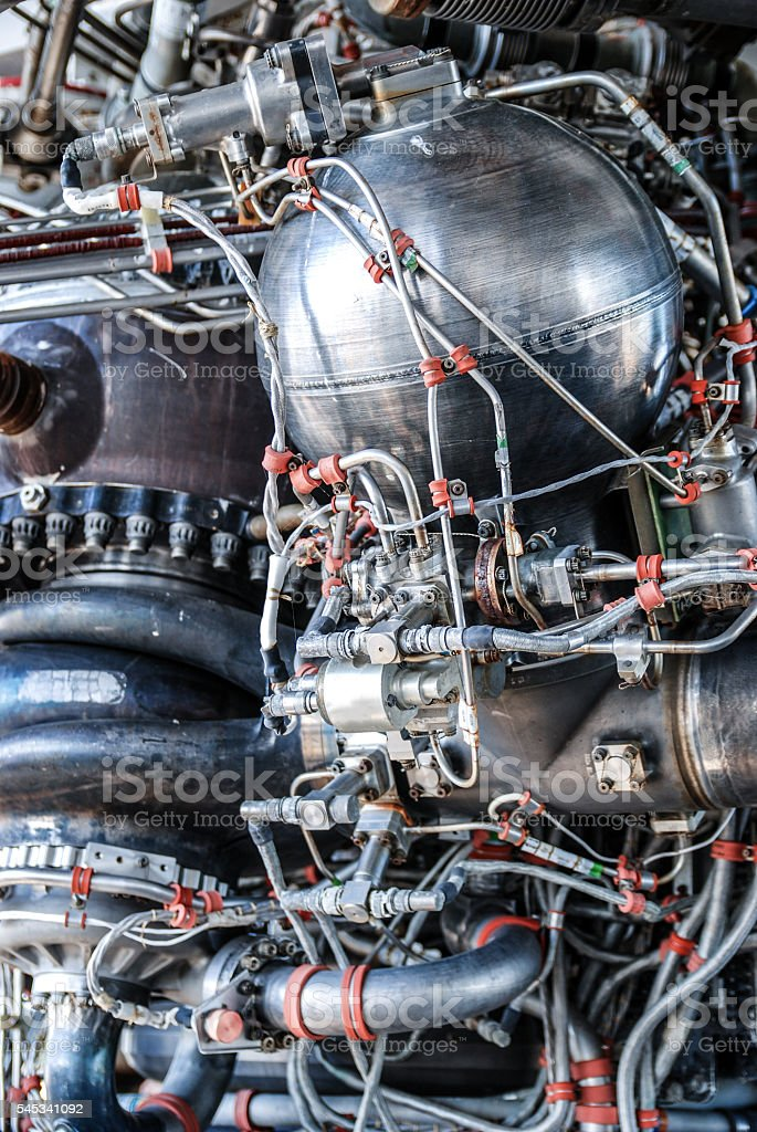 Rocket engine stock photo