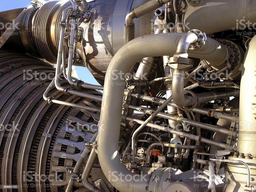 Rocket engine royalty-free stock photo
