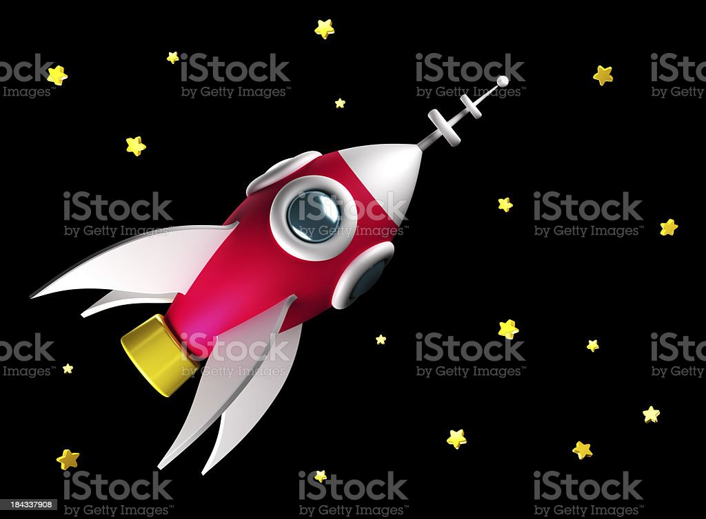 Rocket in space royalty-free stock photo