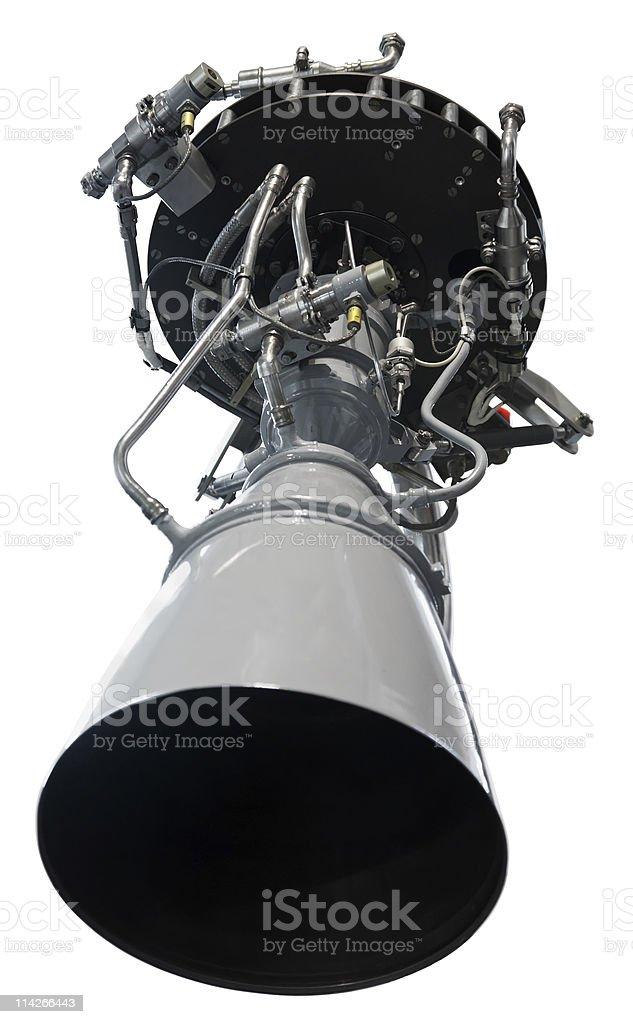 Rocket jet engine stock photo