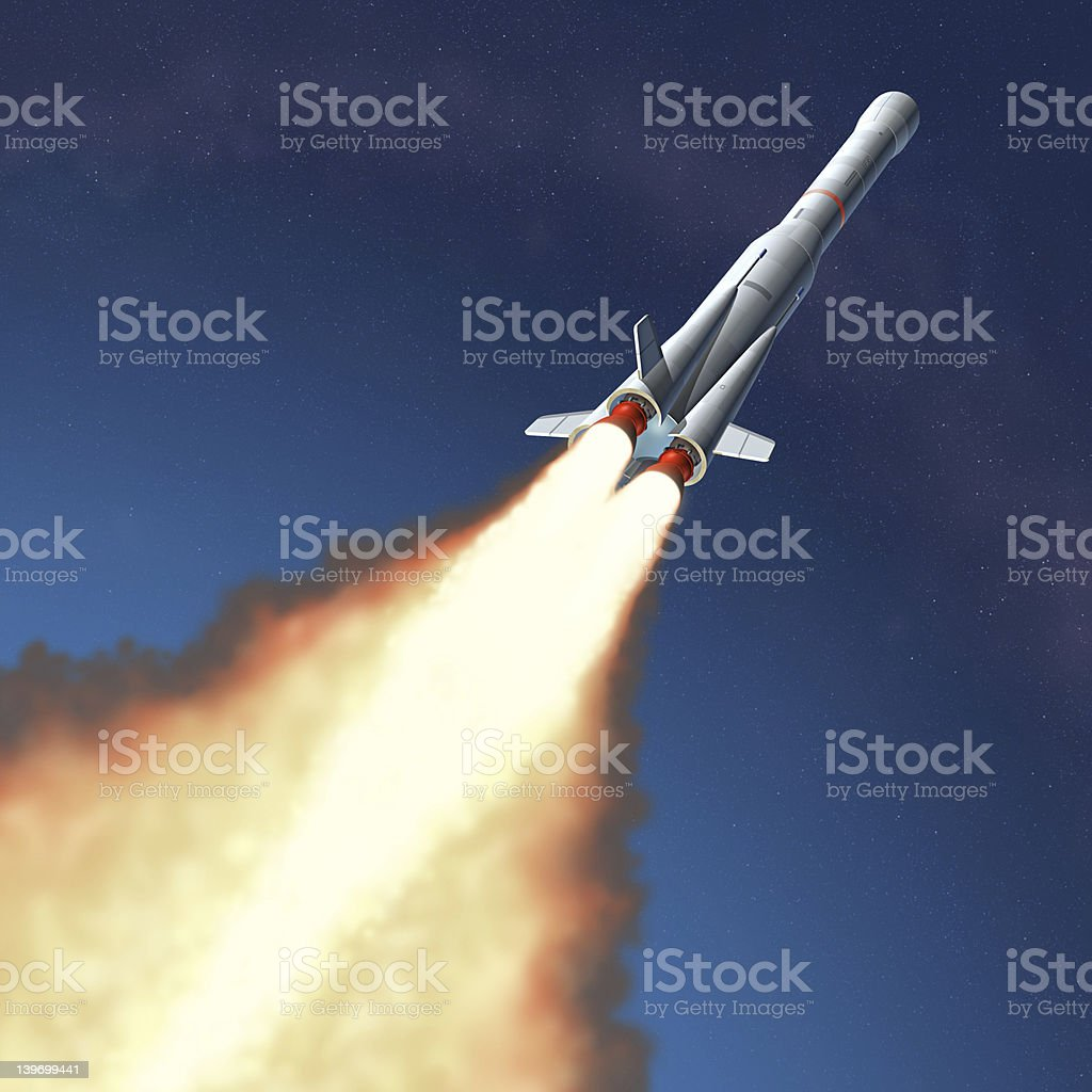 Rocket Launch royalty-free stock photo