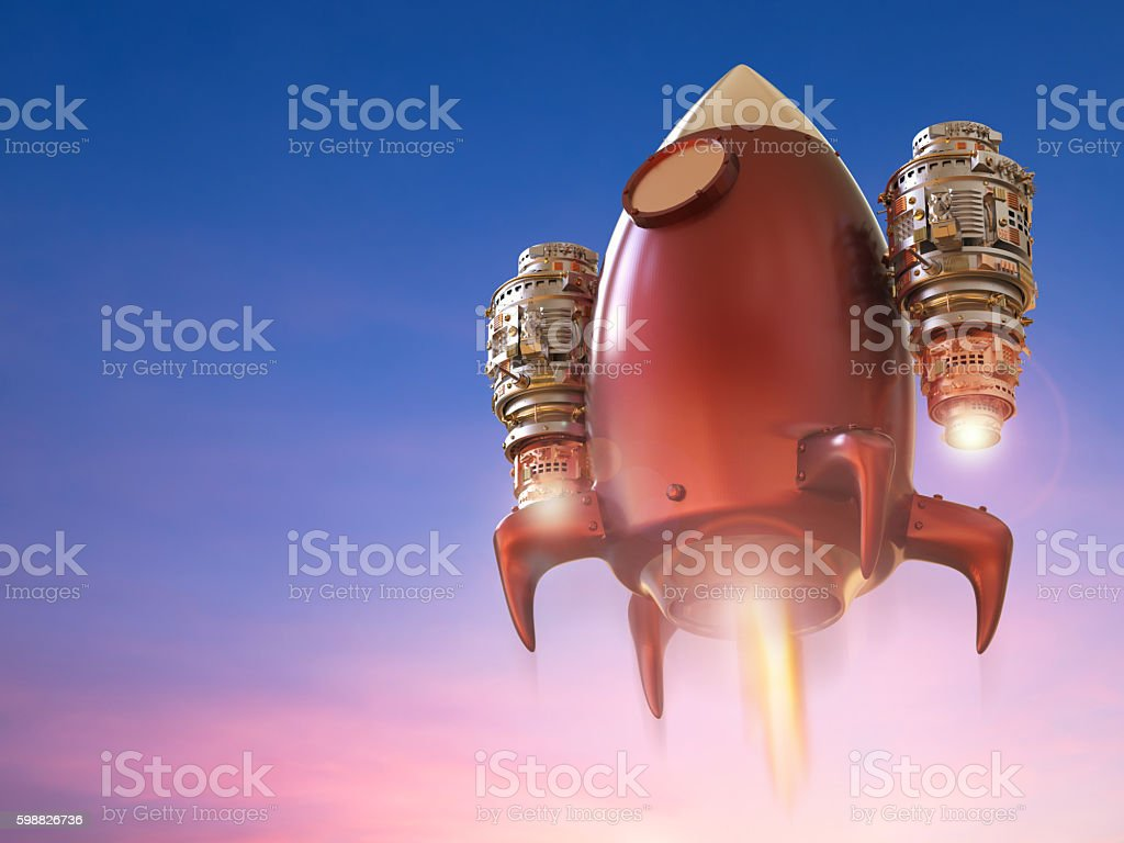 rocket launch stock photo