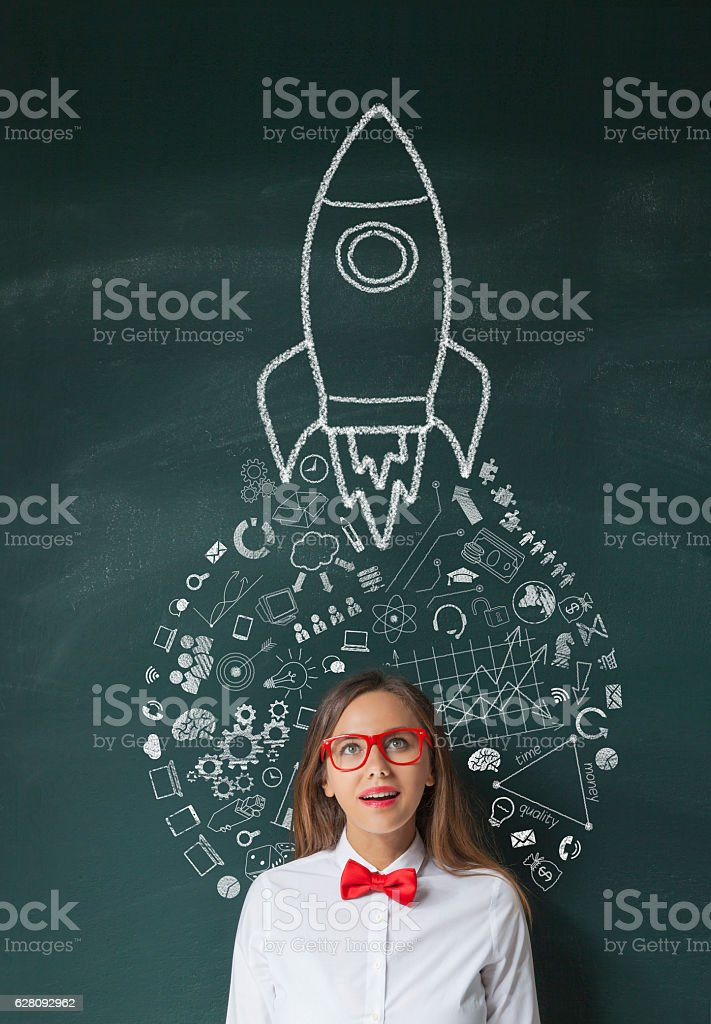 Rocket Leadership Concept stock photo