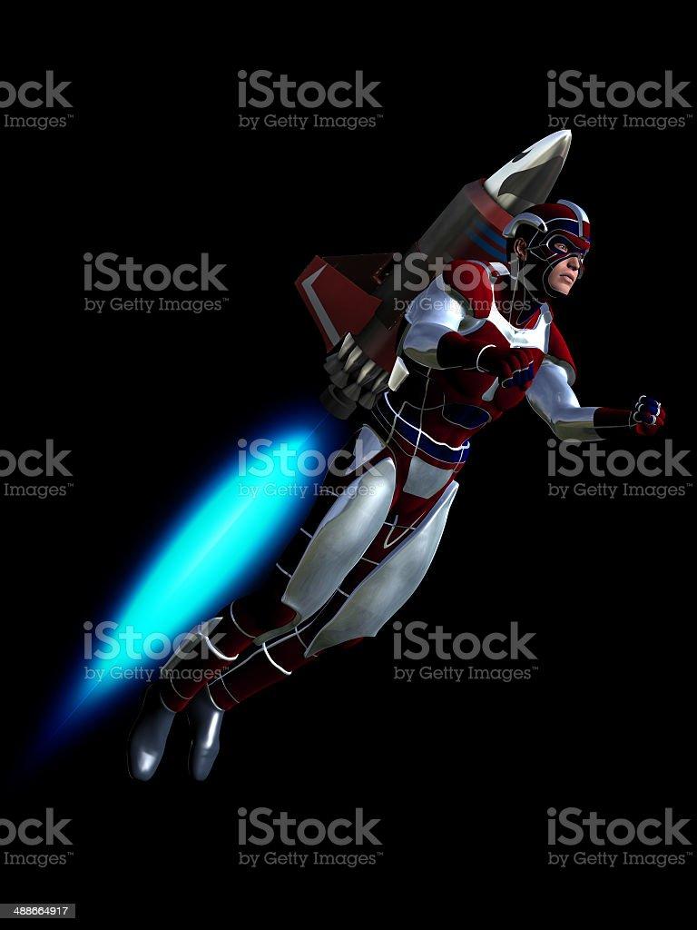 Rocket man stock photo
