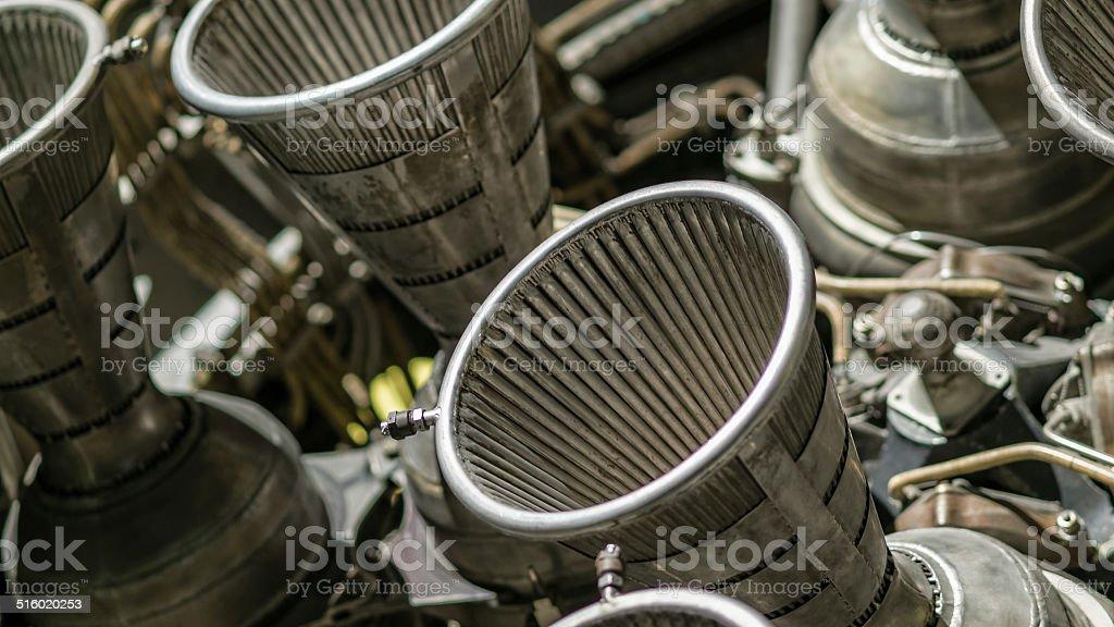 rocket nozzles stock photo