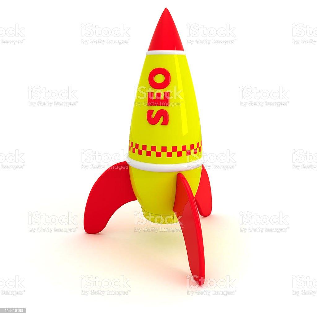 SEO rocket royalty-free stock photo