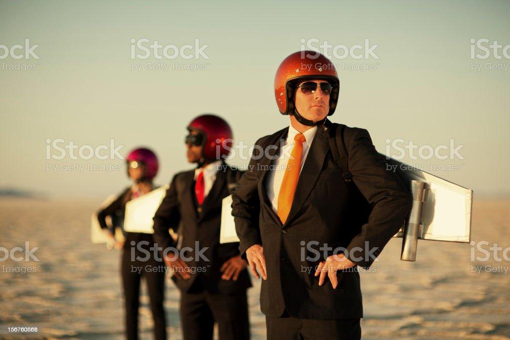 Rocket Team royalty-free stock photo