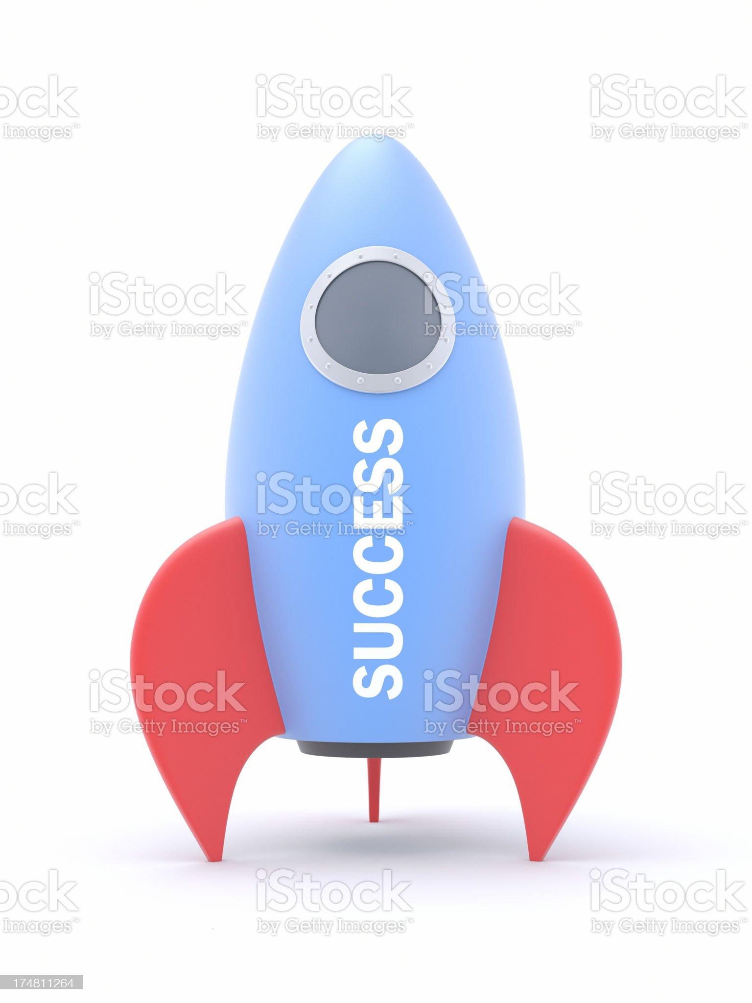 Rocket to Success XL+ royalty-free stock photo