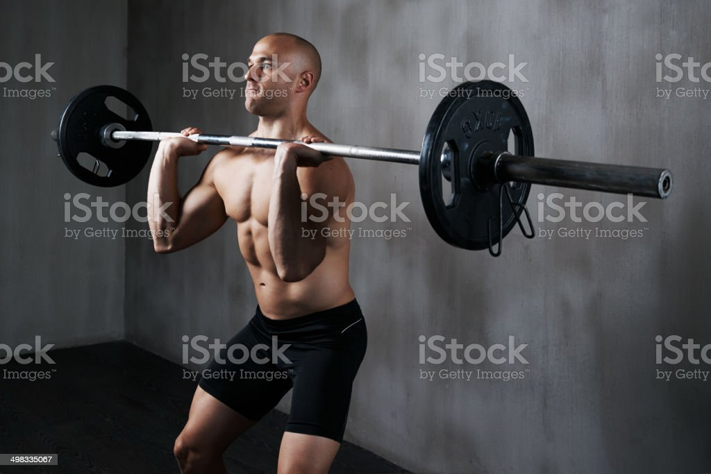 Rocketing past his own physical plateau royalty-free stock photo
