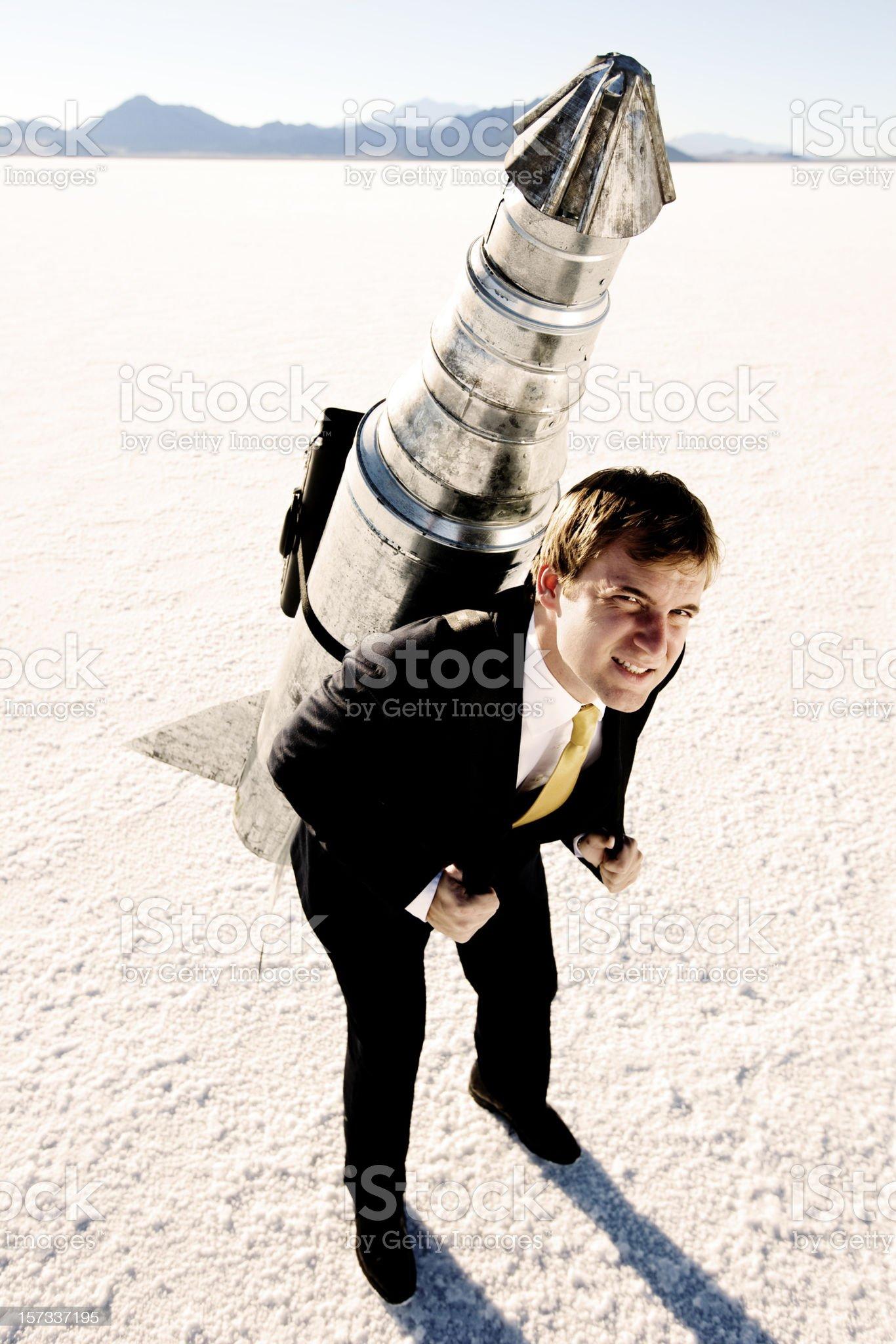 Rocketman royalty-free stock photo