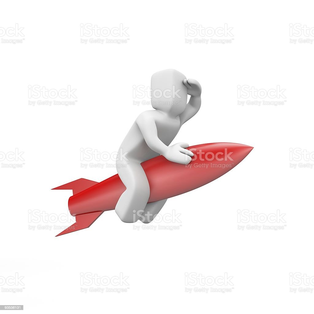 Rocket-man royalty-free stock photo
