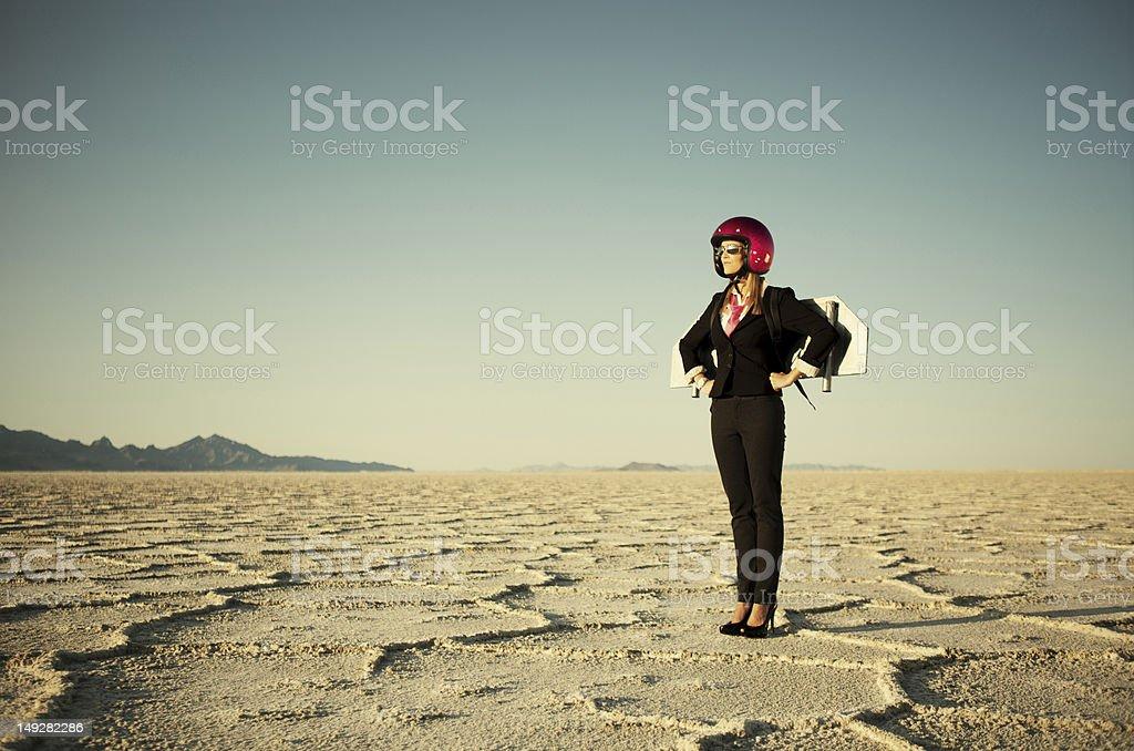 Rocketwoman royalty-free stock photo