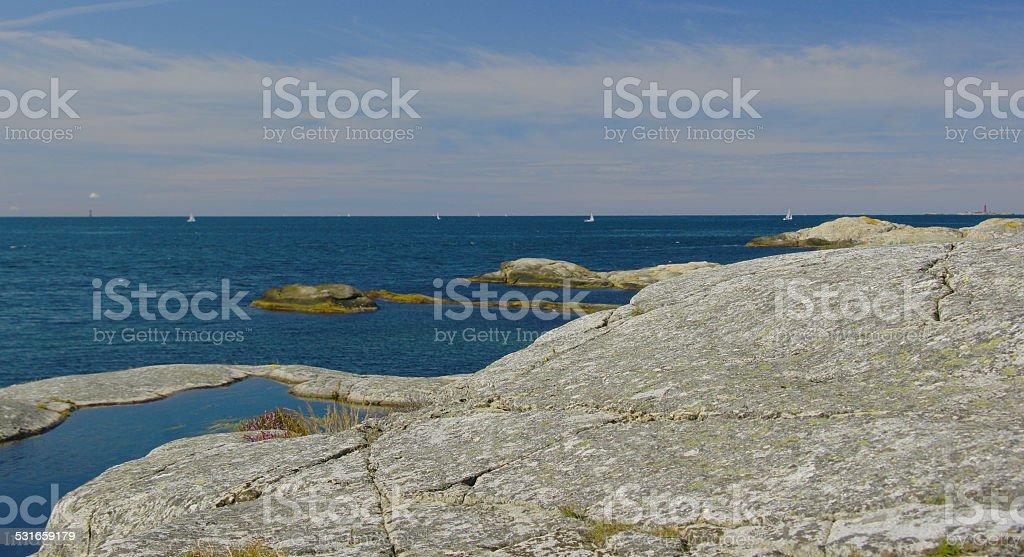 Rockfacesea stock photo
