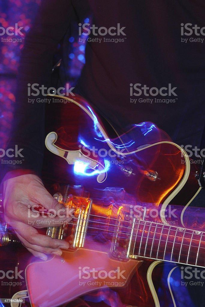 Rockgig guitar player stock photo