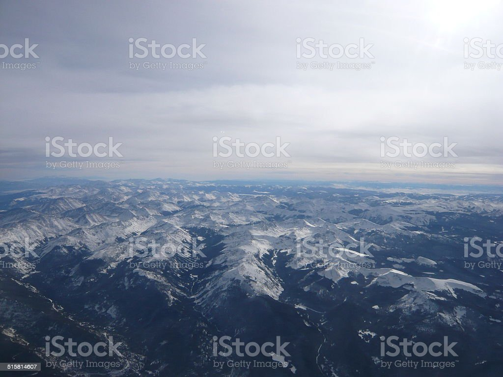 rockies from the sky royalty-free stock photo