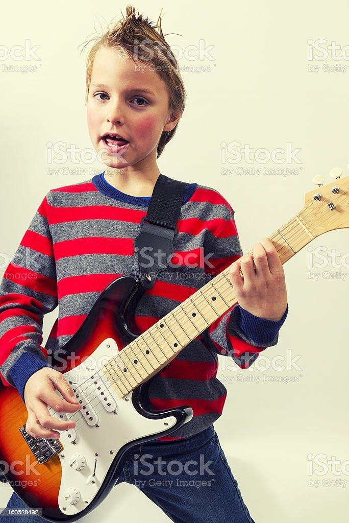 rocking boy royalty-free stock photo