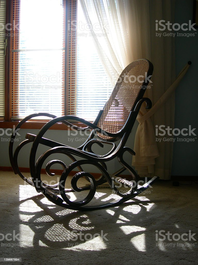 Rocking Chair in Sunshine royalty-free stock photo