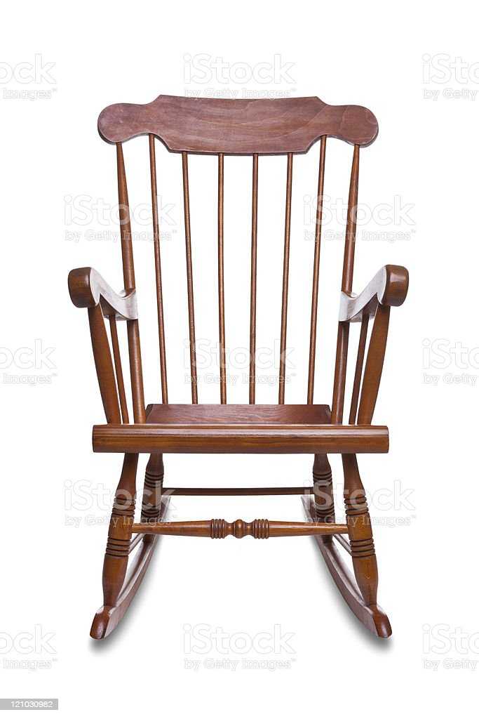 Rocking chair isolated stock photo