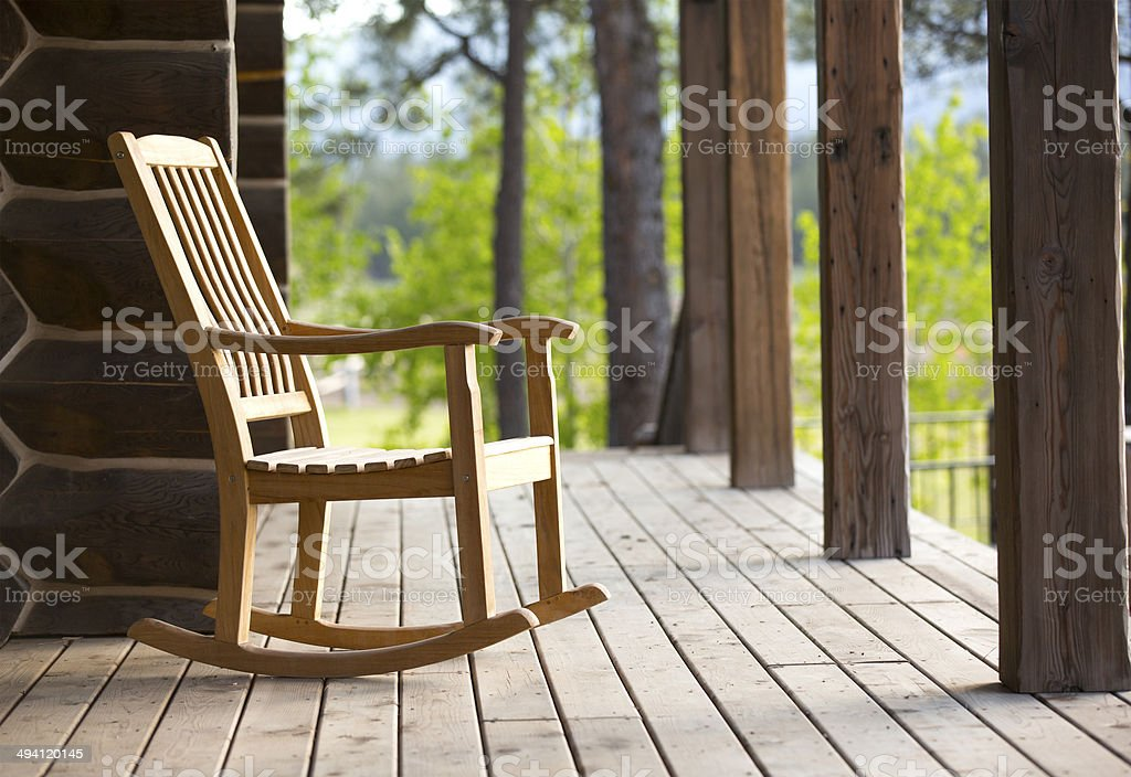 rocking chair stock photo