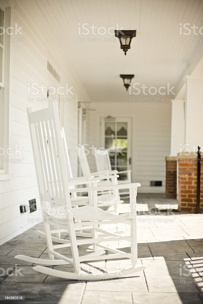 Rocking Chairs On A Porch royalty-free stock photo