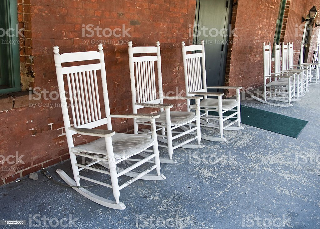 Rocking Chairs on the Porch royalty-free stock photo