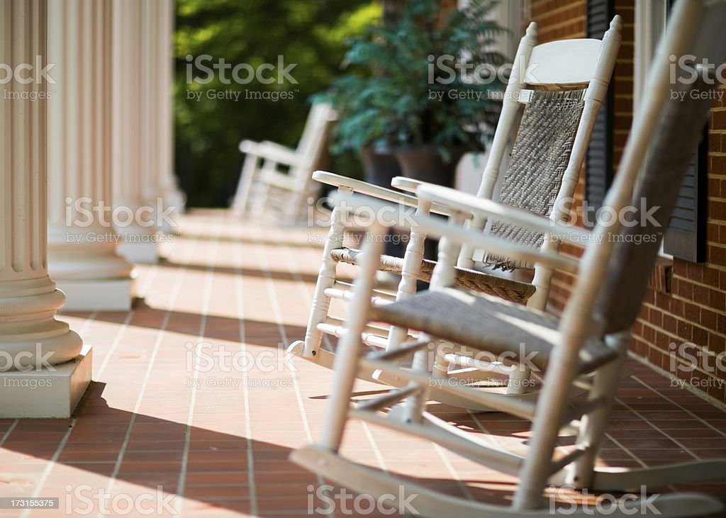 Rocking Chairs stock photo