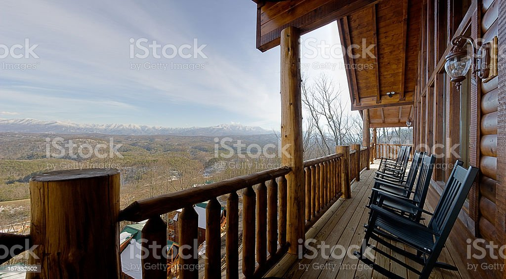 Rocking chairs waiting for summer (XXL) royalty-free stock photo