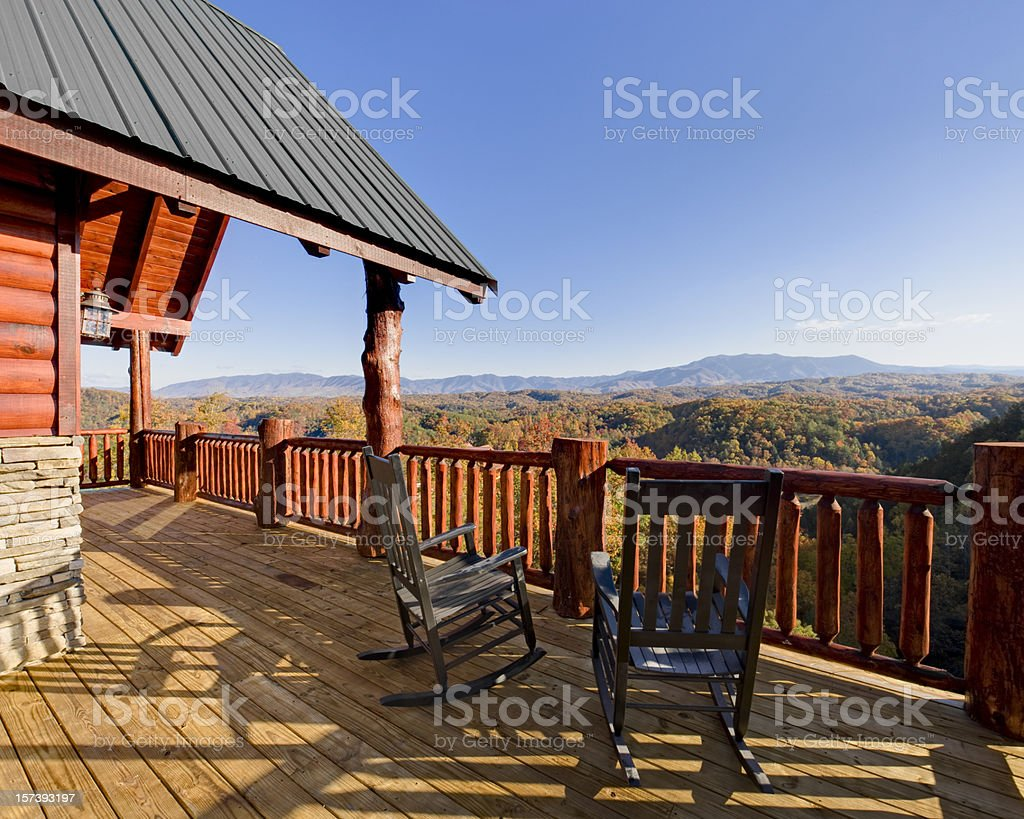 Rocking Chairs with a View (XXL) royalty-free stock photo