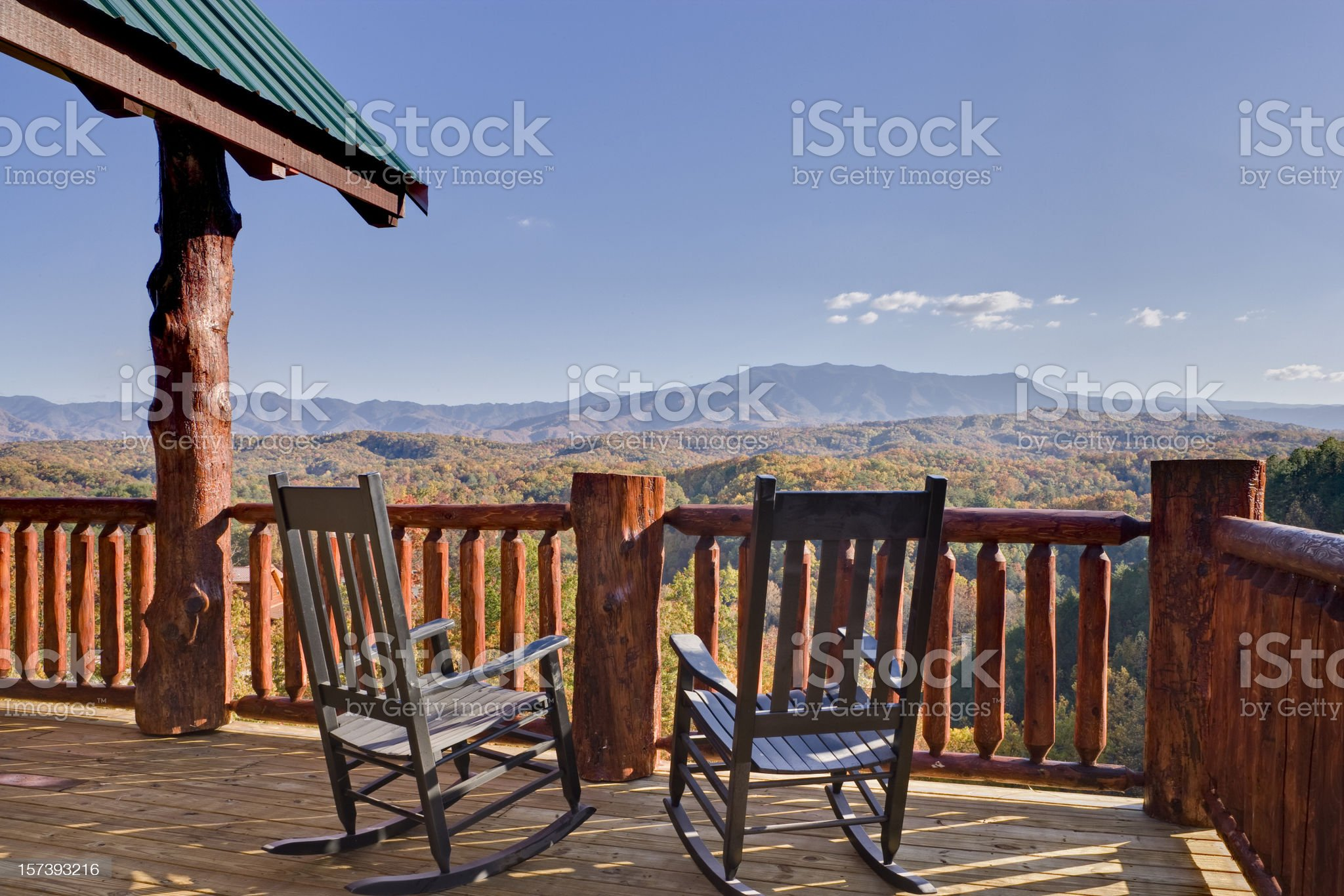 Rocking Chairs with a View royalty-free stock photo