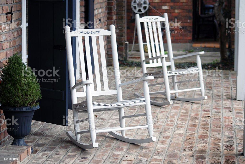 Rocking Chairss stock photo